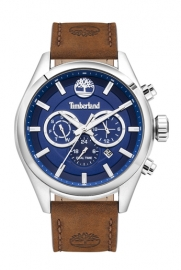 WATCH TIMBERLAND ASHMONT 46MM BLUE DIAL BROWN LEATHER ST TBL.16062JYS-03