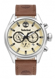 WATCH TIMBERLAND ASHMONT 46MM BEIGE DIAL BROWN LEATHER ST TBL.16062JYS-14