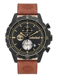 WATCH TIMBERLAND DUNFORD 46MM BLACK DIAL BROWN LEATHER ST TBL.16003JYB-02