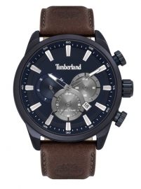 WATCH TIMBERLAND MILLWAY 46MM BLUE DIAL BROWN LEATHER S TBL.16002JLABL-03