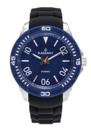 WATCH RADIANT AREN 46MM BLUE DIAL BLACK SILI STRAP + T RA503604T