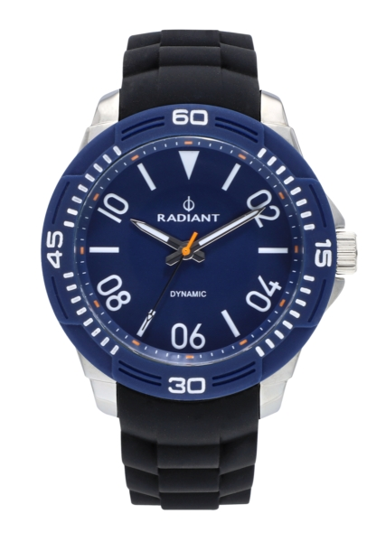 RADIANT AREN 46MM BLUE DIAL BLACK SILI STRAP + T RA503604T