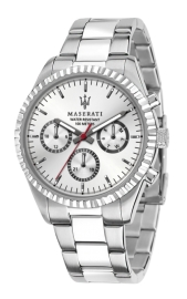 WATCH MASERATI COMPETIZIONE 43MM MLT W/SIL DIAL BR SS R8853100018