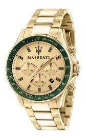 WATCH MASERATI SFIDA 44MM CHR YG DIAL BR YG R8873640005