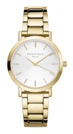 WATCH ROSEFIELD THE TRIBECA WHITE SUNRAY STEEL GOLD TWSG-T61
