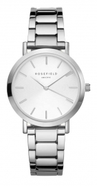 WATCH ROSEFIELD THE TRIBECA WHITE SUNRAY STEEL SILVER TWSS-T62