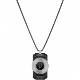 WATCH POLICE JEWELS NOTO NECKLACE SILVER SS PENDANT PJ.26567PSS-01