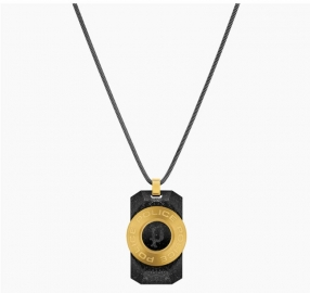 WATCH POLICE JEWELS NOTO NECKLACE GUN SS GOLD PENDANT PJ.26567PSG-03