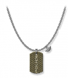 WATCH POLICE JEWELS ENGAWA NECKLACE SILVER SS GOLD PENDANT PJ.26565PSQG-03