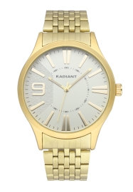 WATCH RADIANT MASTER 44MM GOLD DIAL IPGOLD BRAZ RA565203