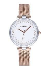 WATCH RADIANT THE CIRCLE 36MM SILVER DIAL IPRG MESH RA543203