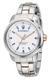 WATCH MASERATI SUCCESSO EXT 44MM 3H WHITE DIAL BR SS R8853121005