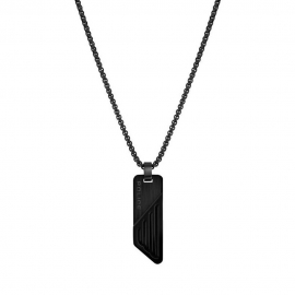 WATCH POLICE JEWELS BOYNE NECKLACE BLACK SS PENDANT PJ.26572PSB-02