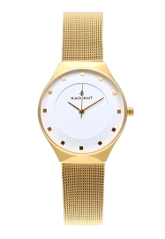 WATCH RADIANT TOKYO 32MM WHITE DIAL IPG SS MESH RA530601