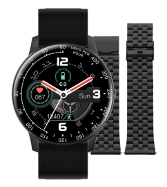 WATCH RADIANT TIMES SQUARE 44MM IPBLACK SILI STRAP RAS20401