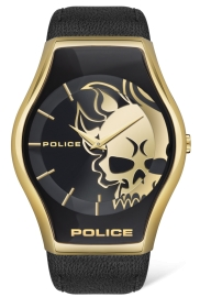 WATCH POLICE PEWJA2002301 SPHERE 2H GOLD / BLACK LEAT PL.16114JSG-02