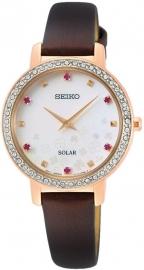WATCH SEIKO LADIES SOLAR 45 SWAROVSKI ESFERA MOP SUP450P1