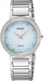 WATCH SEIKO LADIES SOLAR 45 SWAROVSKI ESFERA AZUL SUP447P1