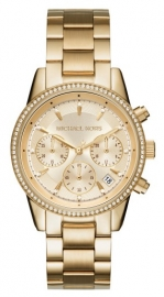 WATCH MICHAEL KORS MACY'S RITZ GOLD MK6356