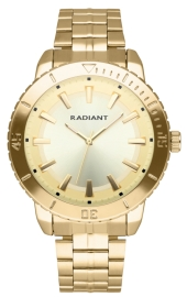 WATCH RADIANT MARINE 44MM GOLD DIAL IPGOLD BRAZ RA570205