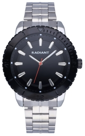 WATCH RADIANT MARINE 44MM BLACK DIAL IPSILVER BRAZ RA570202