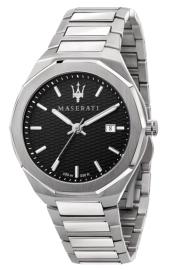 WATCH MASERATI STILE 45MM 3H BLACK DIAL BR SS R8853142003