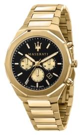 WATCH MASERATI STILE 45MM CHR BLACK DIAL BR YG R8873642001