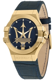 WATCH MASERATI POTENZA 42MM 3H BLUE DIAL BLUE STRAP R8851108035