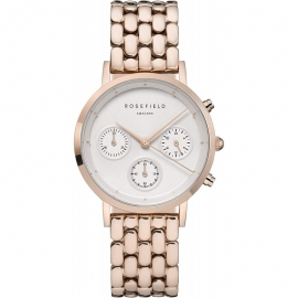 WATCH ROSEFIELD THE CHRONO WHITE ROSE GOLD NWG-N91