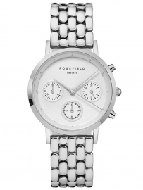 WATCH ROSEFIELD THE CHRONO WHITE SILVER NWG-N92