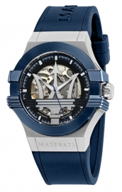 WATCH MASERATI POTENZA AUTO 42MM BLK+BLUE DIAL BLUE ST R8821108035