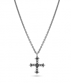 WATCH POLICE JEWELS KUDOS NECKLACE SS ANTIQUE SS CROSS 760MM PEJGN2112811