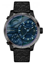 WATCH POLICE BUSHMASTER 3H DATE BLUE DIAL / BLACK L PEWJB2110640
