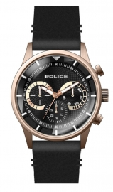 WATCH POLICE DRIVER MULTI BL/RG DIAL / BLACK LEATHER PEWJF2110901