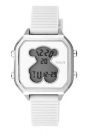 WATCH TOUS D-BEAR TEEN SQUARE SS SILICONA BLANCA 100350380
