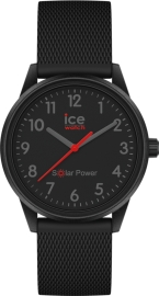 WATCH ICE WATCH SOLAR POWER- BLACK RED -NUMBERS -S -3H IC018740