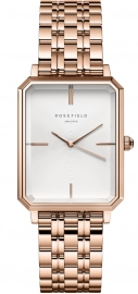 WATCH ROSEFIELD THE OCTAGON WHITE SUNRAY STEEL ROSE GOLD OCWSRG-O42