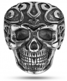 WATCH POLICE JEWELS TRIBAL EDGE RING SKULL SILVER T.24 PEAGF2120202