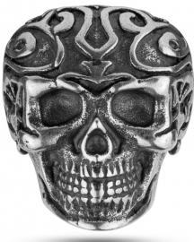 WATCH POLICE JEWELS TRIBAL EDGE RING SKULL SILVER T.26 PEAGF2120203