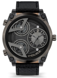 WATCH POLICE WING 3H BLACK DIAL / BLACK LEATHER PEWJA2117942
