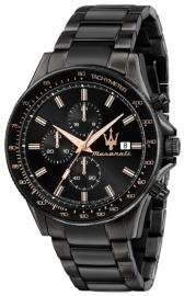 WATCH MASERATI SFIDA 44MM CHR BLACK DIAL BR BLACK R8873640011