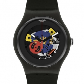 WATCH SWATCH BLACK LACQUERED AGAIN SO29B107