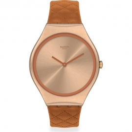 WATCH SWATCH BROWN QUILTED SYXG115