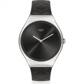 WATCH SWATCH BLACK QUILTED SYXS136