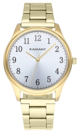 WATCH RADIANT REX 40MM SILVER DIAL IPGOLD BRAZ RA574206